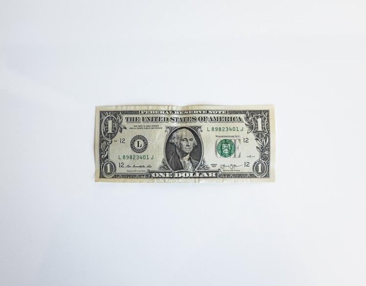 dollar bill, money, franks, one dollar